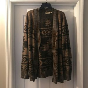 Sweaters - Brown and Black Aztec Sweater in Women